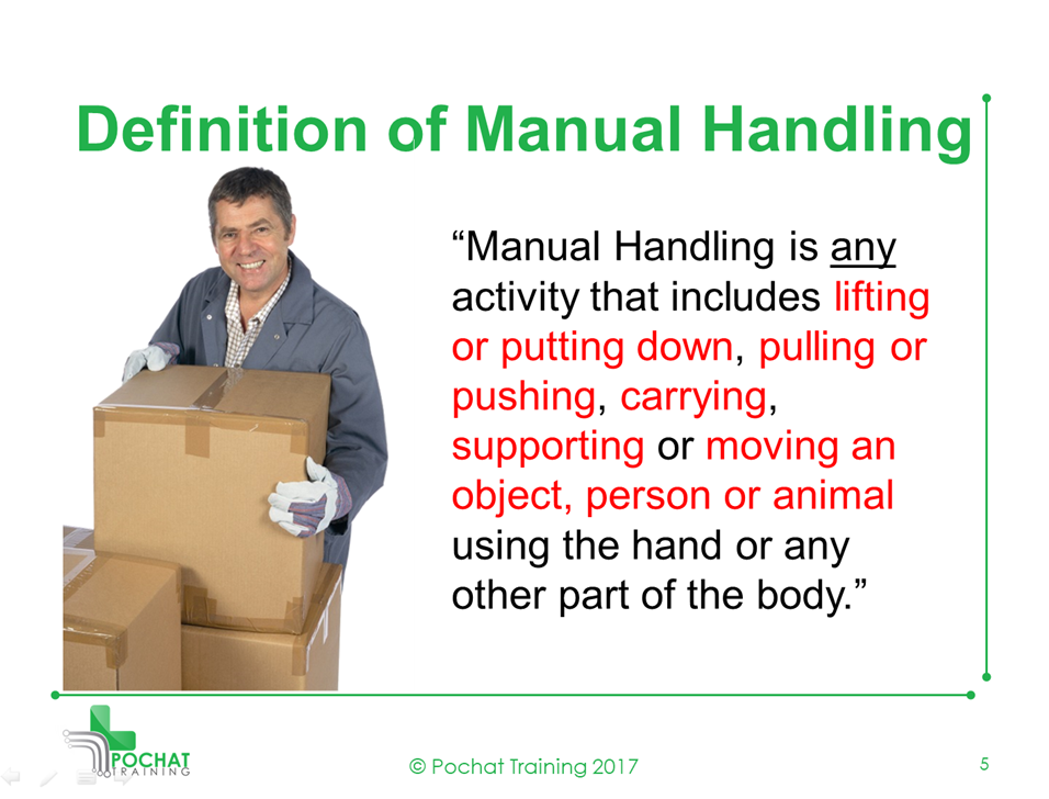 level 2 patient manual handling course